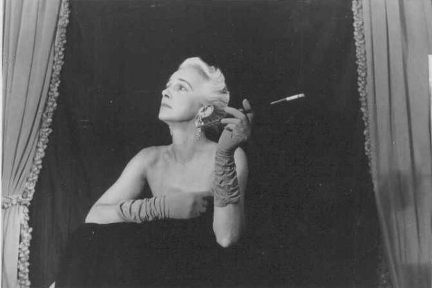 Gwen with cigarette holder 1960